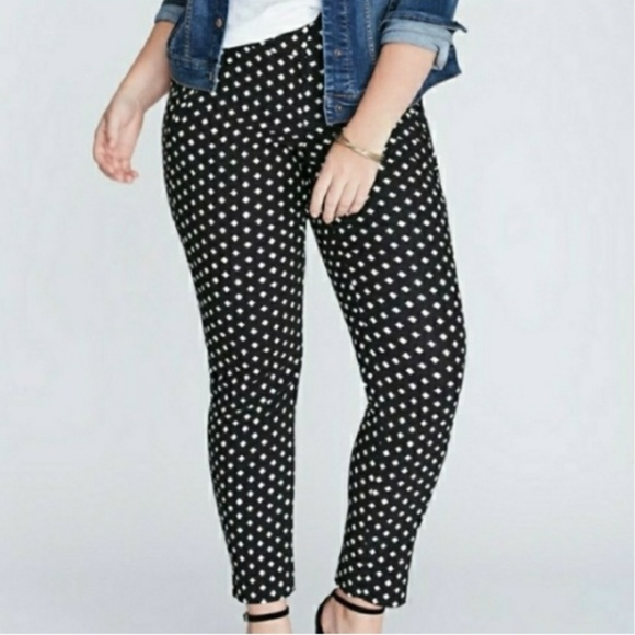 a8d5bf017da73 LANE BRYANT  NWT The Lena Black White Ankle Pants